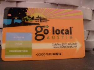 Go Local Austin Card!